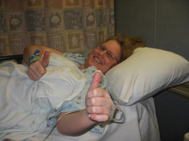 8/22/08-Going into get my port cath for my chemo starting on 8/27/08