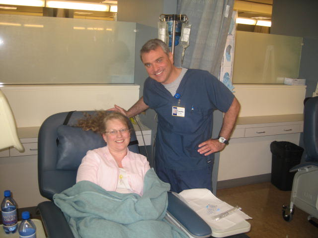 Tim, My nurse-Chemo Treatment #2