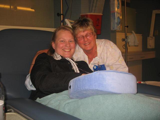 With one of my chemo nurses
