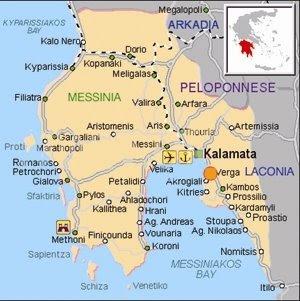 Que voir dans le Peloponnese ? La Messenie dans le sud ouest du