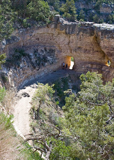 Click for Larger Image of people at the Bright Angel Trail tunnel