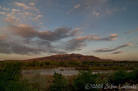 Click for Larger Image of Sandia Peak and Rio Grande