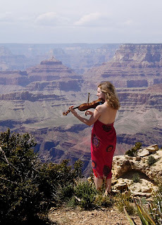 Click for Larger Image of Woman Playing Violin