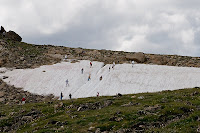 Click for Larger Image of People Playing in Snow on July 31