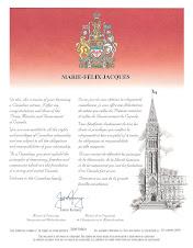 Certificat de citoyenneté canadienne