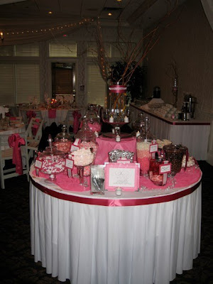 I loved this candy table that they created Definitely all the rage right