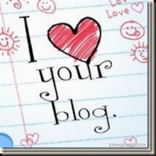 I  ♥ YOUR BLOG AWARD X3