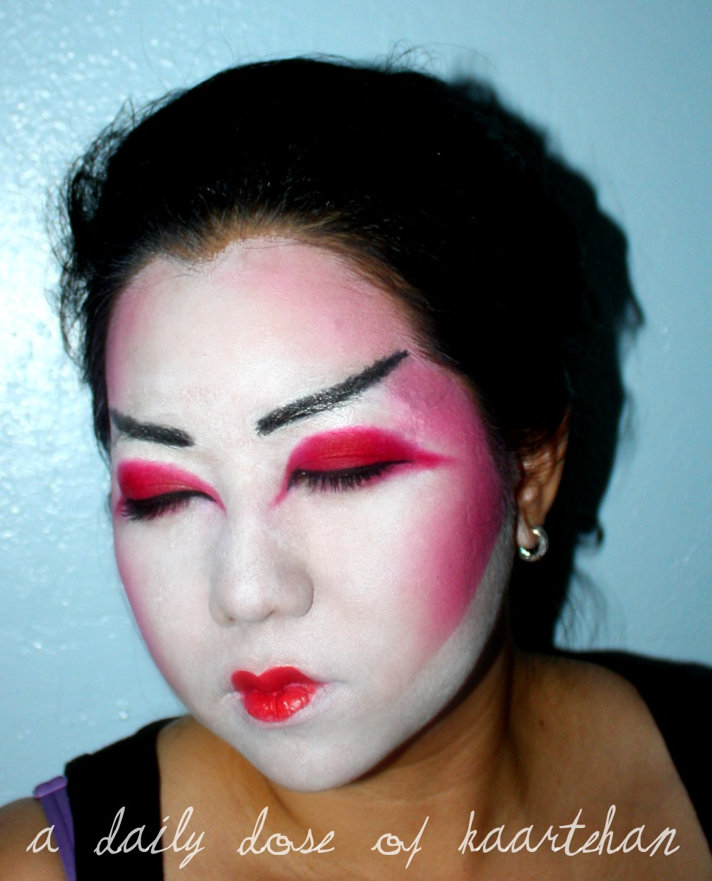 a daily dose of kaartehan halloween look geishamaiko makeup attempt