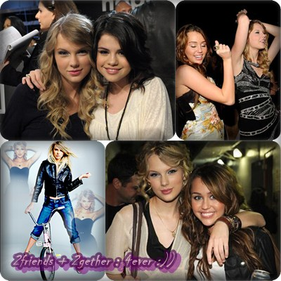 selena gomez and demi lovato and taylor swift and miley cyrus. miley cyrus and selena gomez