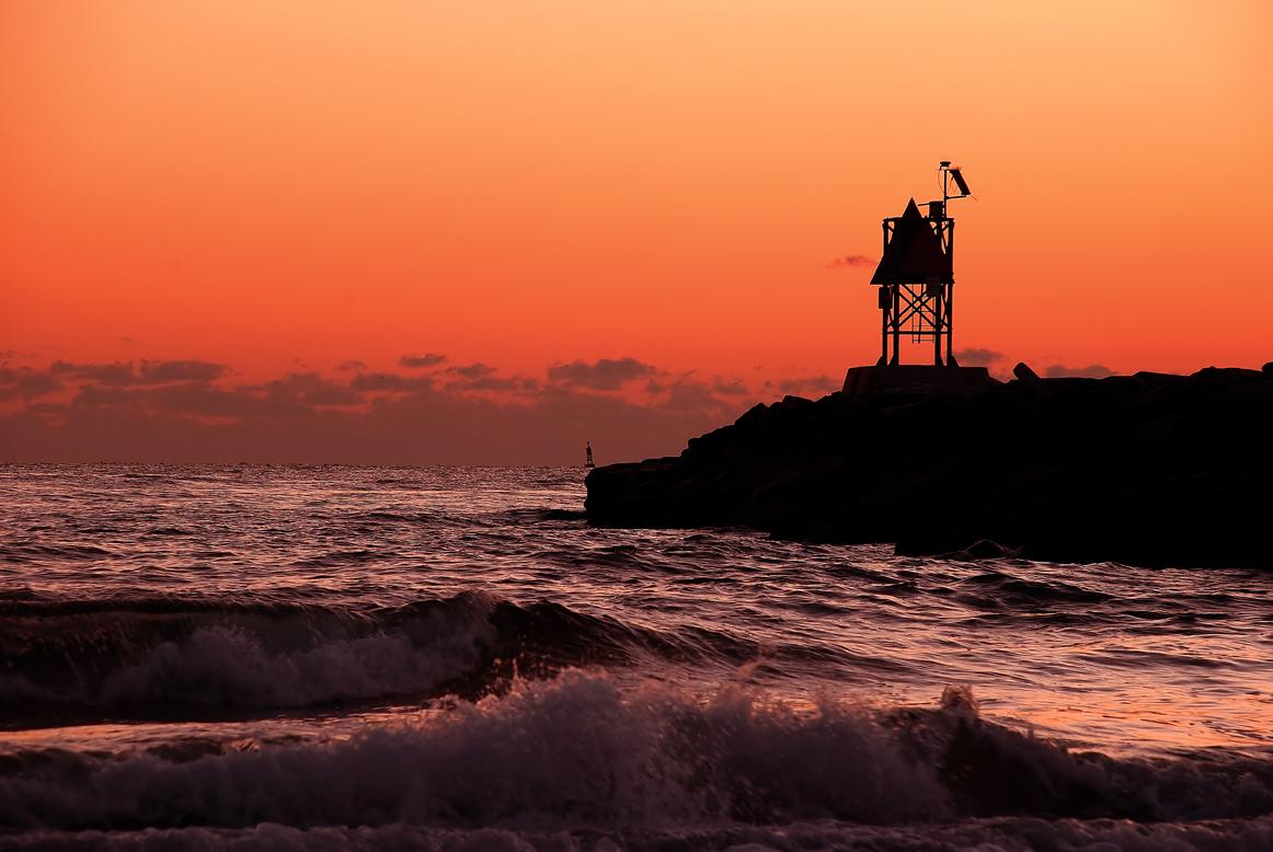 Halscott photo golden hour for Rudee inlet fishing
