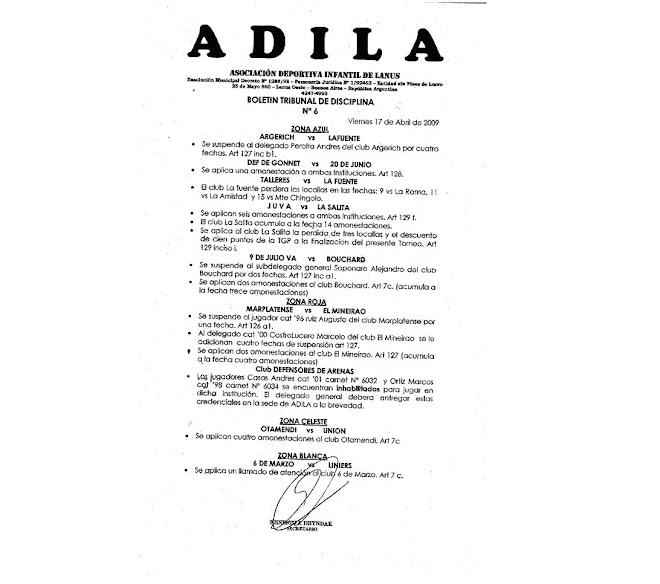 Boletin Oficial N°6
