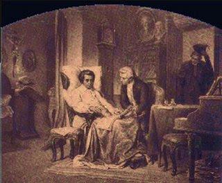 Mozart en su lecho de muerte