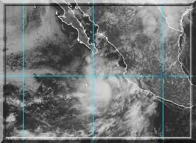 Hurrikan Julio 23. August 2008, Baja California, Hurrikansaison 2008, Hurricane, Sturm, storm, tormenta, Zyklon, Mexiko, Mexico, Tropische Depression, Sturm, Prognose, Zugbahn, Pazifik, Atlantik, forecast, Vorhersage