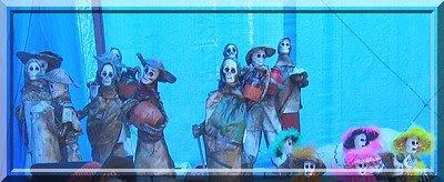 Horror, Masken, Verkleidung, Halloween, Mexiko, Aguascalientes, Markt, Toten, Skelett, Schaedel