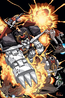 Giant space-lion robots with knives in their teeth blowing up alien warships COME ON!