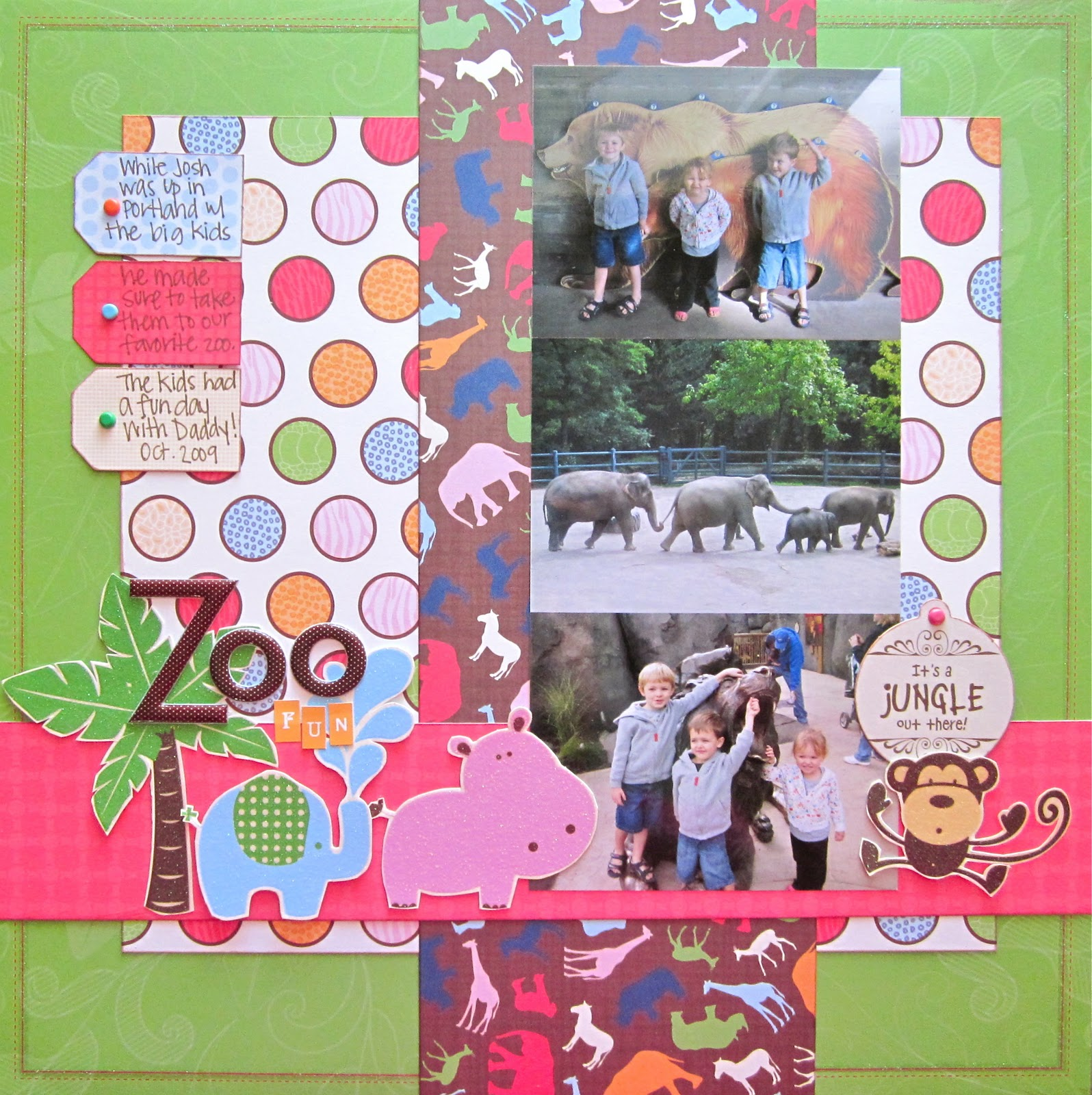 Jungle scrapbook ideas -  Zoo Oregon Zoo When Josh Took The 3 Big Kids Up To Portland For His Race October 2008