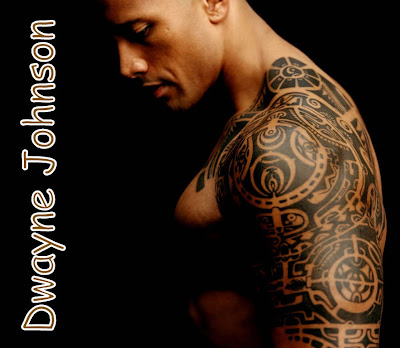 picture of the rock's tattoos. Dwayne Johnson's tattoos. Tattoo.