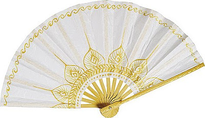 Hand  Wedding Programs on For An Exotic Look With This Hand Painted Paper Fan  Available Here