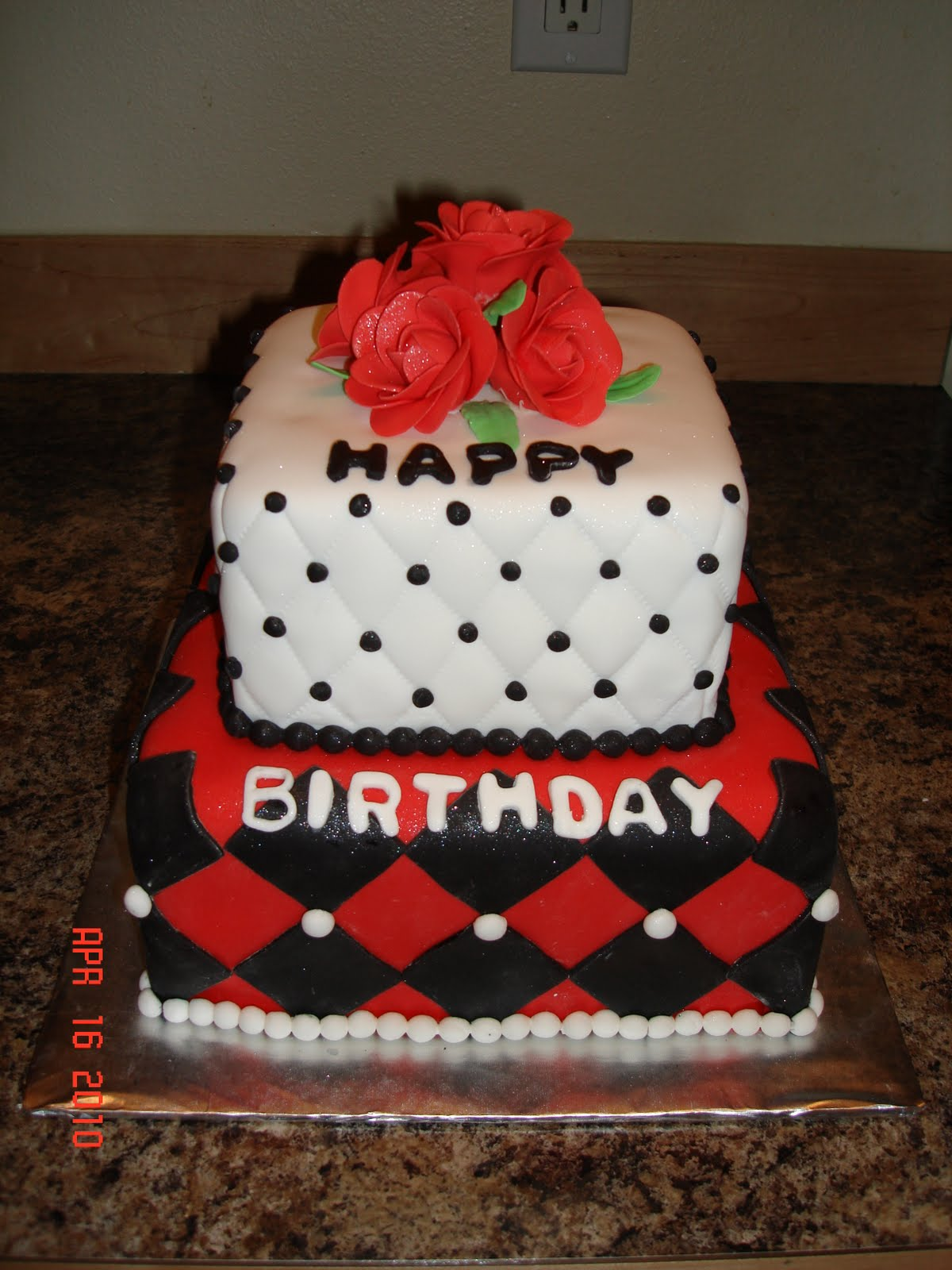 Custom Cakes By Denise Red Roses Happy Birthday