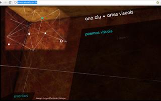 site literário artista Ana Aly poesia digital artes plásticas