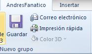 Crear pestañas personalizadas en MS Office 2010
