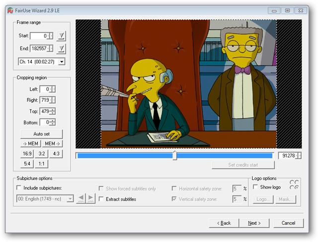 Convertir una película de DVD directamente a AVI