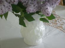 Le Verre laiteux qui fleurie...