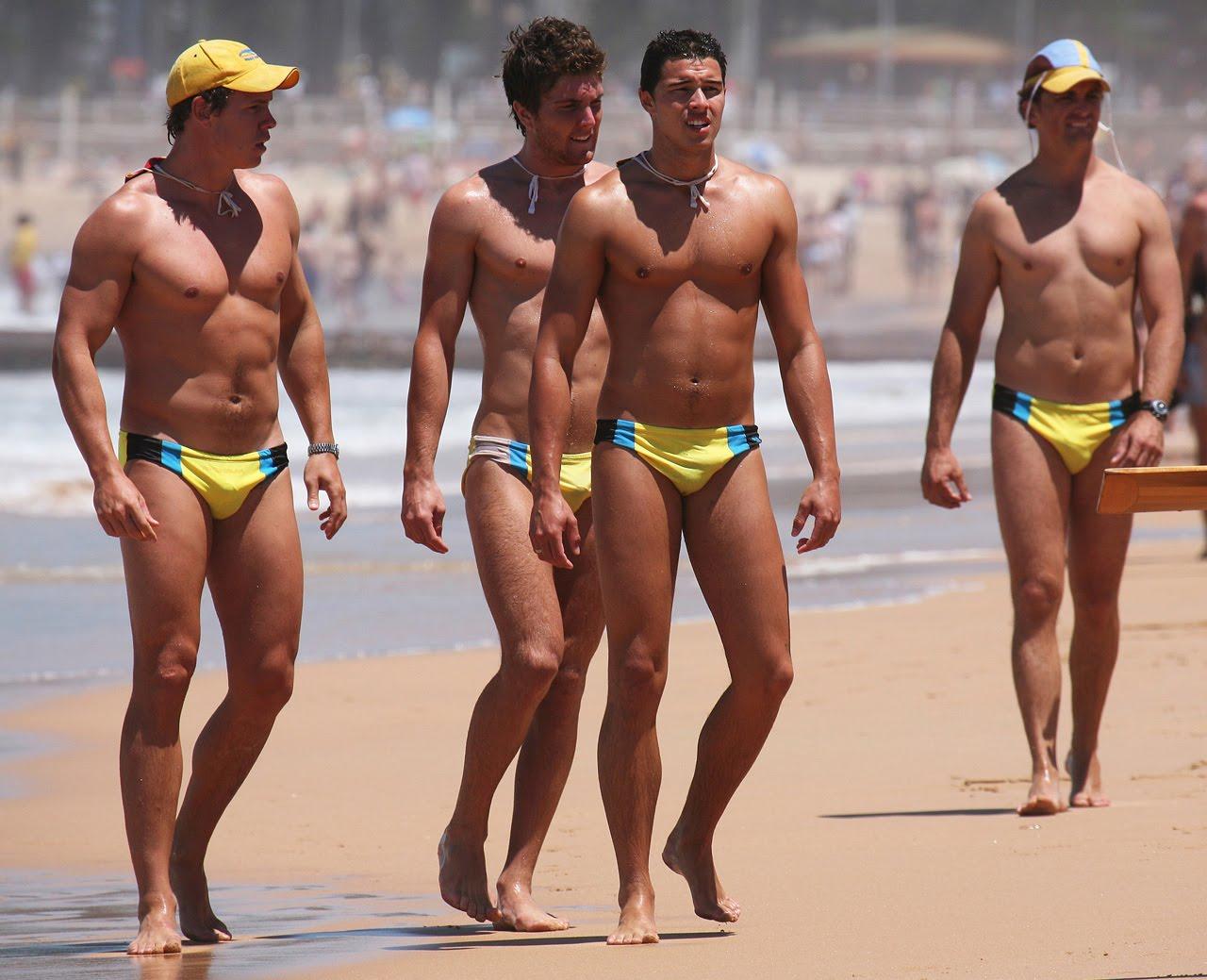 Men Speedo Beach