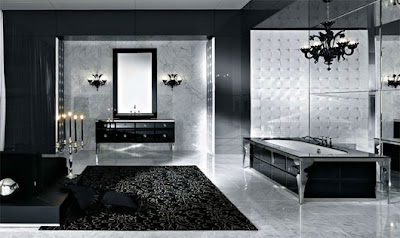 Modern Black and White Bathroom with classical design