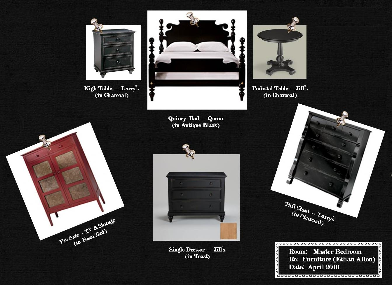A Farmhouse Revisited The May Family Master Bedroom Furniture Sample Board