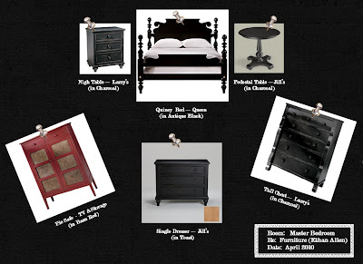 Revisited: The May Family: Master Bedroom Furniture Sample Board