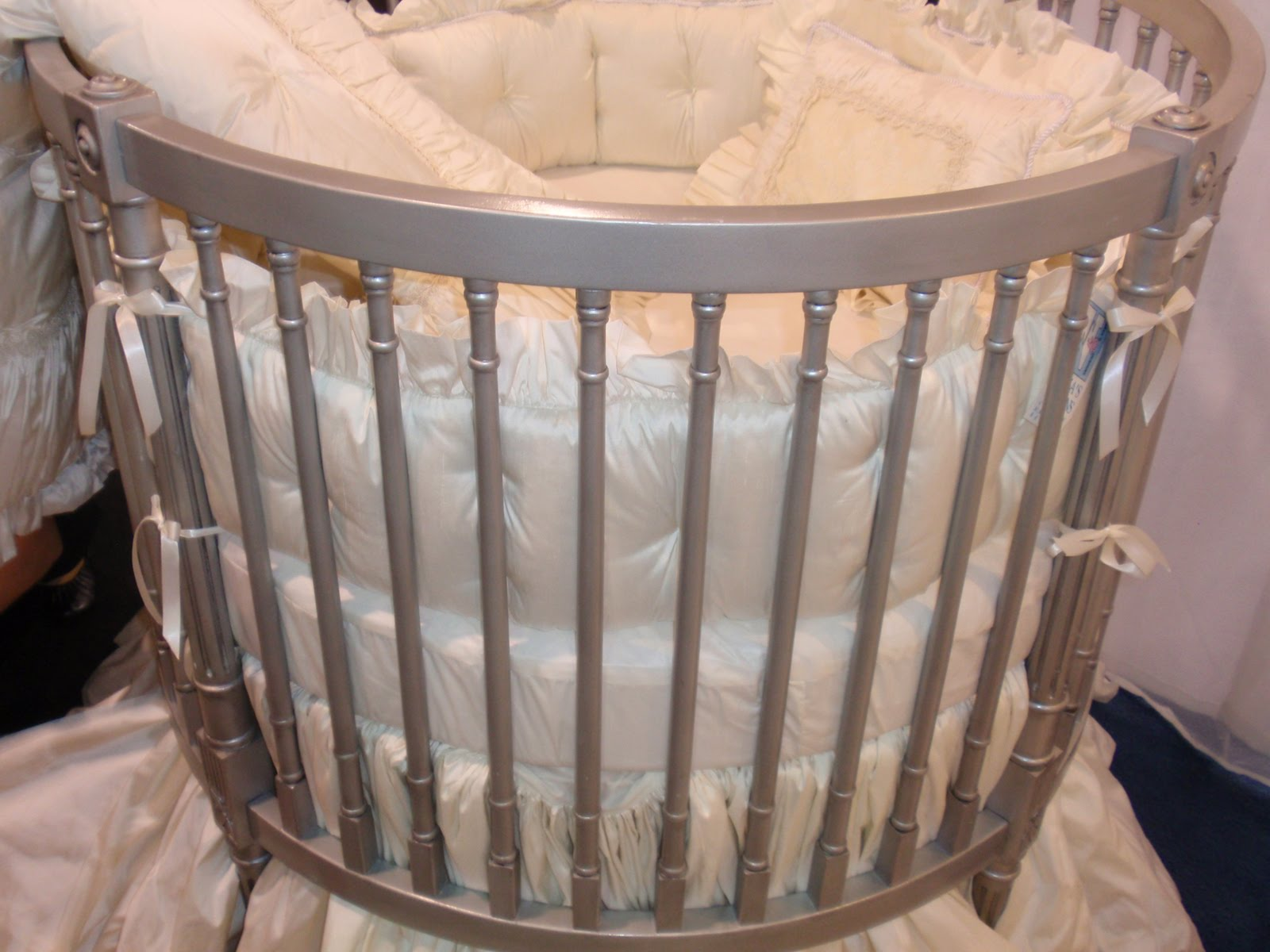 Circular Crib Bedding Designer Baby Bedding By Navas Designs October 2010