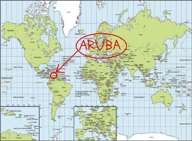 where is aruba on world map - 28 images - location map aruba is on ...