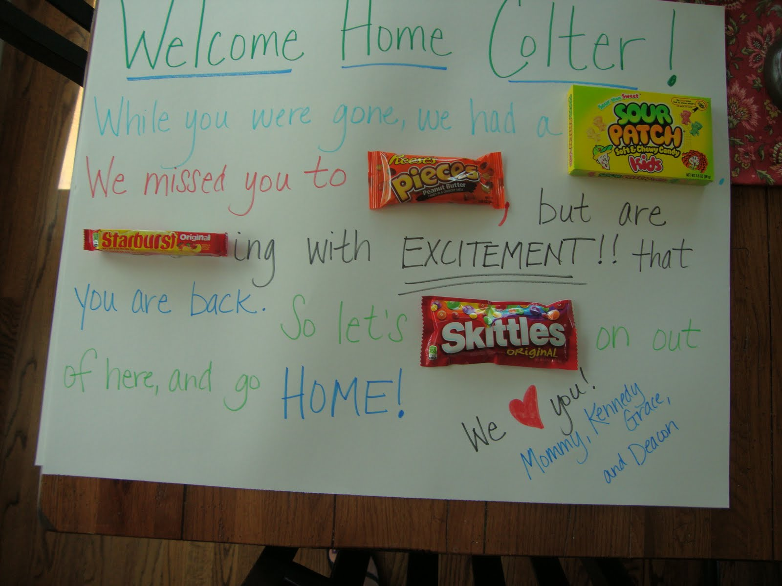 Welcome home signs 28 images welcome home banner by for Welcome home decorations ideas