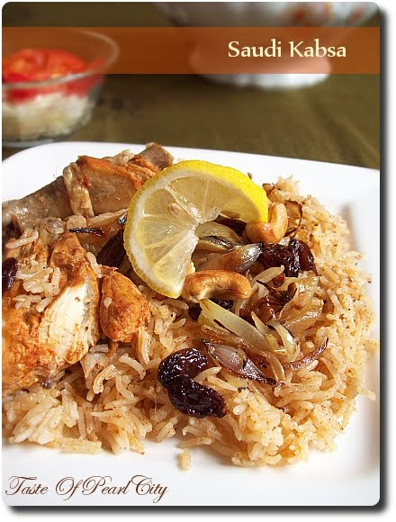 Taste of pearl city saudi kabsa this one pot dish is very easy to make with less cutting and chopping kabsa is a type of arab food made with rice and meat cooked in very mild spices forumfinder Image collections