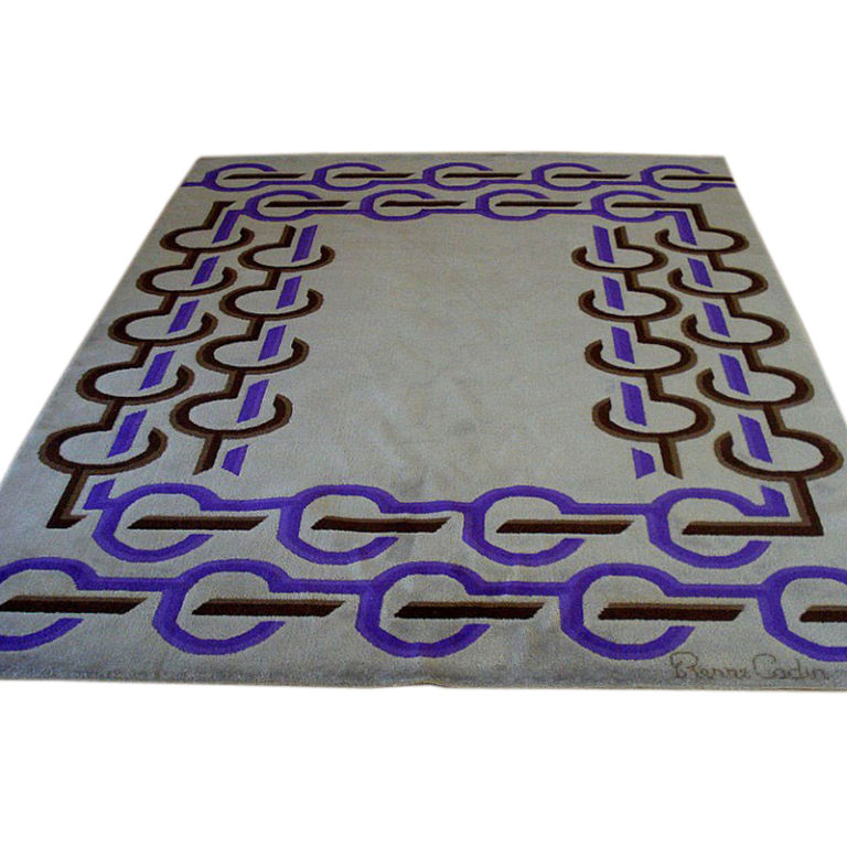 If It S Okay With You I D Like To Swap Out All Your Inherited Oriental Rugs For Some Vintage Pierre Cardin Furniture Isn T This Chain Link C1970 Rug