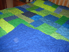 Bright Blue & Green Quilt
