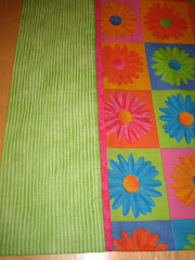 Flower Power Cotton Pillowcase - Close Up