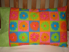 Flower Power Cotton Pillowcase