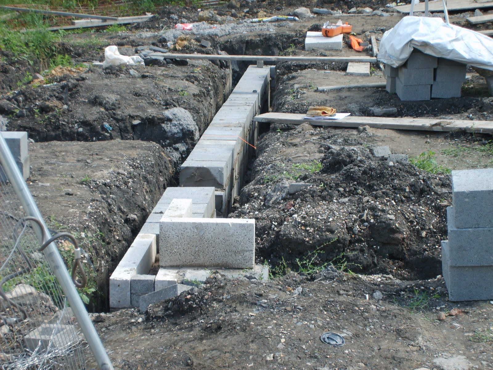 Self build new homes blog foundation blocks laid for Block foundation