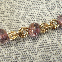 Honeycomb Calcite Wire-Wrapped Pendant Chain Detail