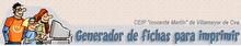 """Generador de fichas 2: CEIP """"Inocente Martín"""" de Villamayor de Cva (C. Real)"""