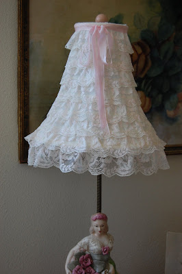 Maison douce a tutorial layered lace lampshades a couple of posts ago one of the projects i showed you was a layered lace lampshade it is a simple no sew project and i will show you how easy it aloadofball Image collections