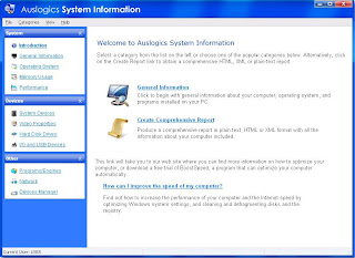 AusLogics System Information : Main Window