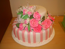 CAKE  FONDANT 2 TIER 4 WEDDING