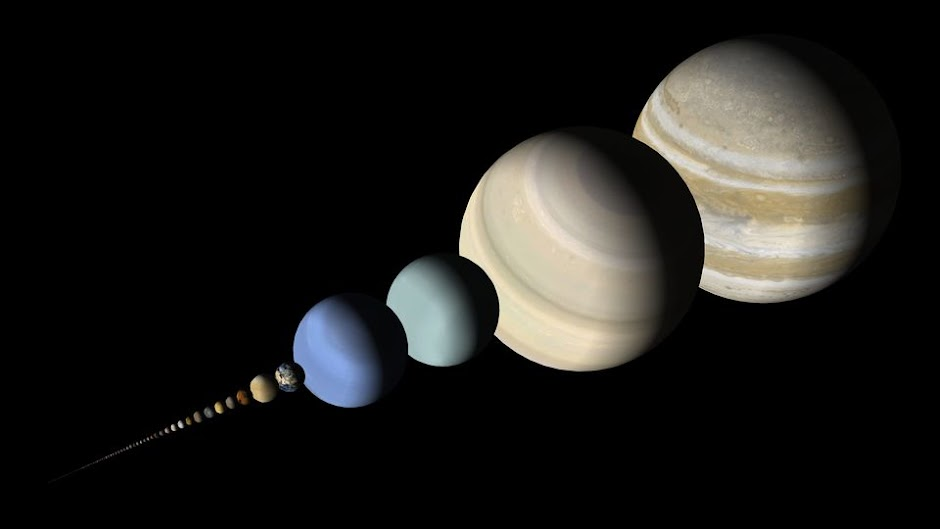 100 Largest Objects in the Solar System