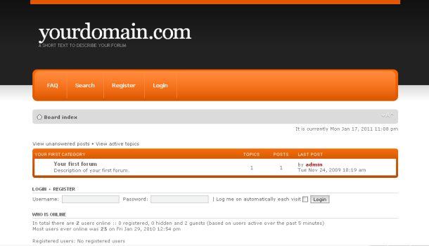 Static Simple Orange phpBB Theme Template » SCRiPTMAFiA.ORG ...