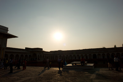 Central open courtyard in Agra Fort