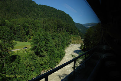 Stream on the railway network between Interlaken and Lauterbrunnen