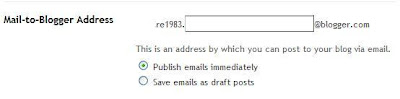 Posting to Blogger via email